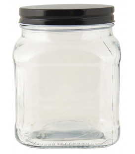 Bocal en verre couvercle noir 700 ml - Ib Laursen