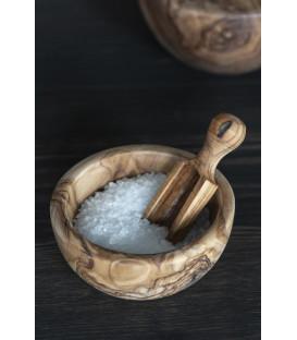 Mini cuillère à sel en bois d'olivier