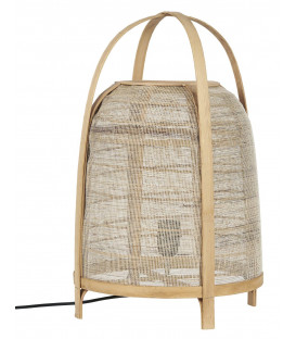 Lampe à poser en bambou et corde