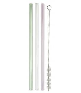 Lot de 8 pailles en verre avec brossette de nettoyage - Ib Laursen