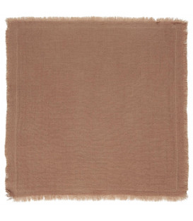 Serviette de table en gaze de coton frangée Brick - Ib Laursen