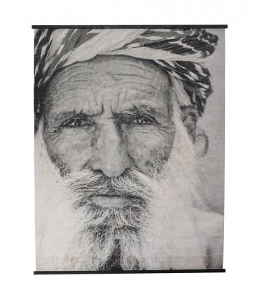Déco Murale PRADESH Portrait Homme - 200x148 - Red Cartel