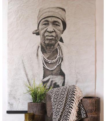 Déco Murale GOSPEL Portrait Femme - 122X94 - Red Cartel