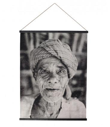 Déco Murale JAMAA Portrait Homme - 122X94 - Red Cartel