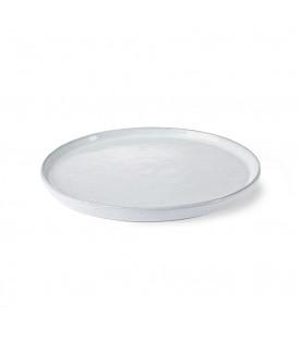 Assiette à dessert Blanc chiné en céramique - HK Living