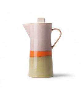 Cafetière colorée céramique 70's - HK Living