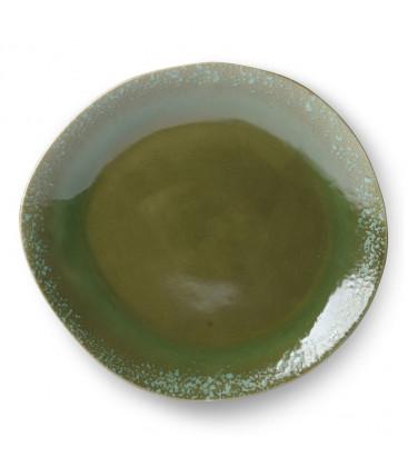 Assiette céramique 70's Vert - HK Living
