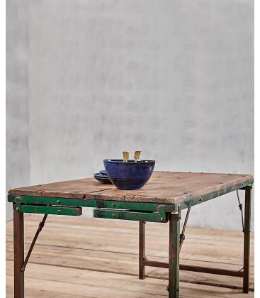 Table à manger ou basse ISHAN - Bois et métal recyclé