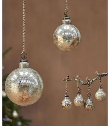 Boule de Noël OMETTI - OR vieilli - Petit format