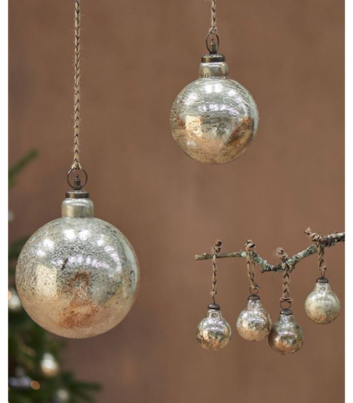 Boule de Noël OMETTI   OR vieilli   Grand format