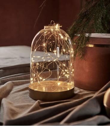 Dome BIANCA en verre lumineux 40 leds - SIRIUS
