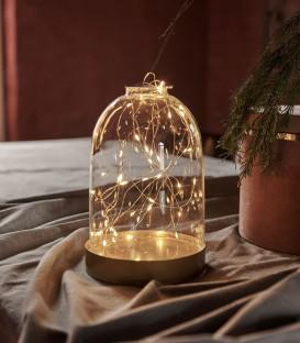 Dome BIANCA en verre lumineux 20 leds