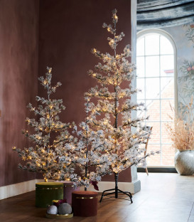 Sapin de Noël Lumineux Neige ALFI H120 cm - SIRIUS