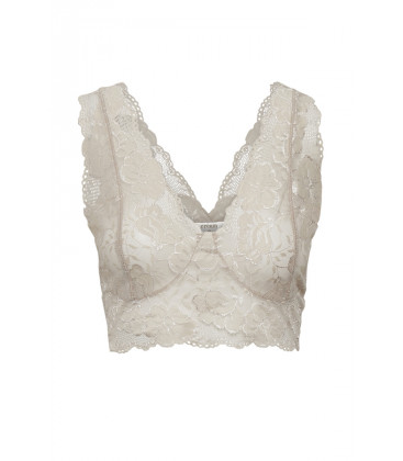 GLAZE Brassière en dentelle - Feather grey