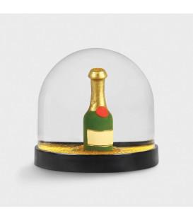 Boule à Neige Bouteille de Champagne - Klevering