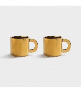 Set de 2 tasses porcelaine Gold - Klevering