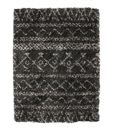 Tapis à poils longs toucher laineux motifs ethniques 2 coloris - Impression Lin