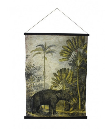 Déco Murale TANZANIA ELEPHANT - 122x94 - Red Cartel