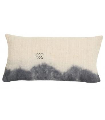 DESERT Coussin en coton 30x60 imprimé deep dye - Indigo