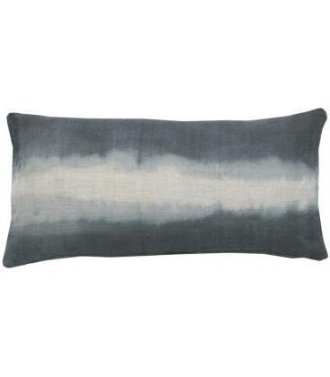 GABIN Coussin rectangulaire 30x60 en lin deep dye - Deep Blue