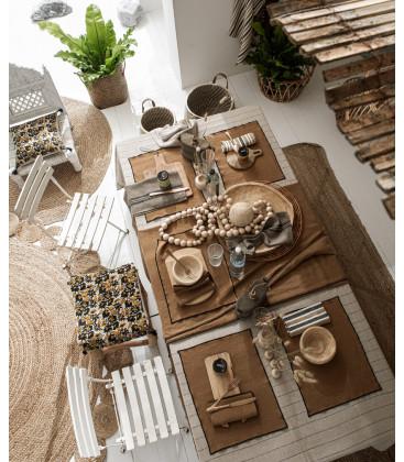 Sets de table en lin enduit BORGO - Par 6 - Harmony