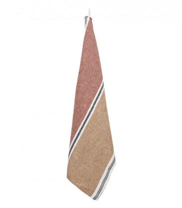 Torchon en Lin Lavé TREVISE - 4 coloris - Set de 2 pièces - HARMONY