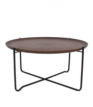 Table basse plateau amovible manguier