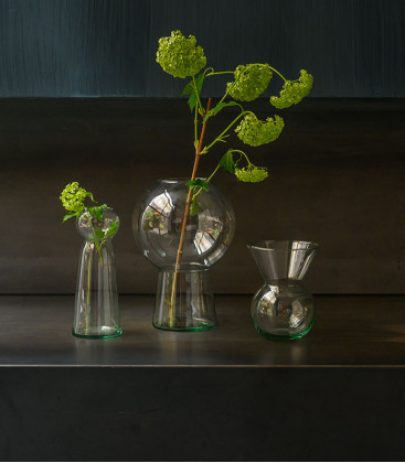 Vase en verre recyclé M