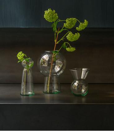 Vase en verre recyclé S