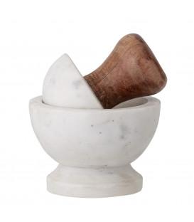 Mortier et pilon en acacia et marbre - Bloomingville