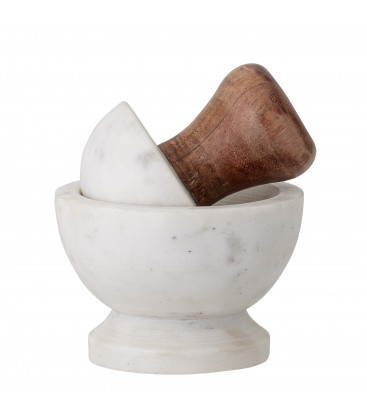 Ernfred Ernfred Mortar & Pestle, White, Marble - Bloomingville