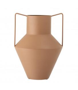 Vase en métal coloris terre-cuite Lola - Bloomingville