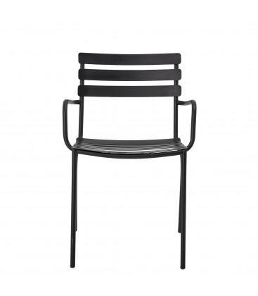 Monsi Monsi Dining Chair, Black, Galvanized iron - Bloomingville