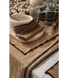 Serviettes de Table Lin Lavé LETIA - 16 coloris - Harmony