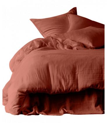 Housse de couette DILI en Gaz de Coton - 7 coloris - HARMONY