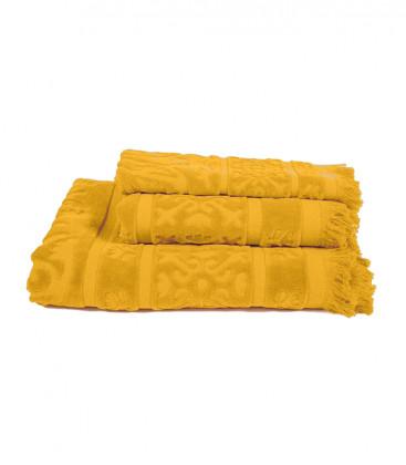 Serviette Éponge SUMATRA couleur Safran - Harmony