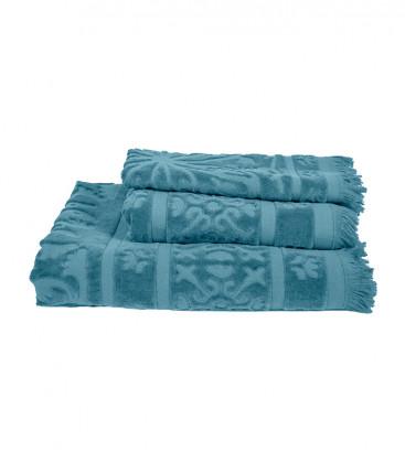 Serviette Éponge SUMATRA couleur Bleu Stone - Harmony