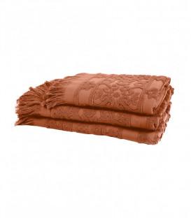 Serviette de Bain Éponge SUMATRA couleur Brick - HARMONY