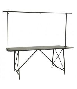 Présentoir de table haut en métal noir