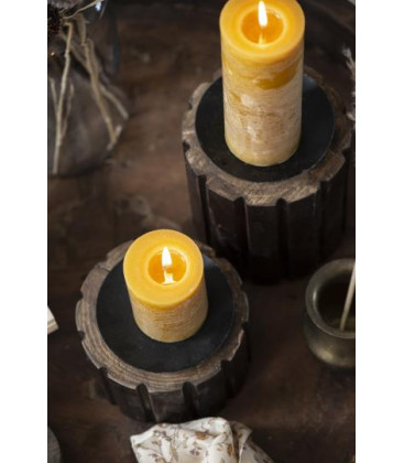 Bougie RUSTIC Moutarde M