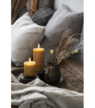 Bougie RUSTIC Moutarde S