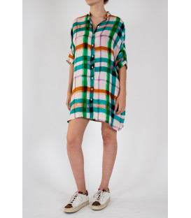 OLLY Robe chemise - Green Check