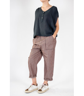 YAEL Pantalon - Nuts Stripe