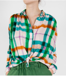 MADRID MIXTE Chemise - Green Check