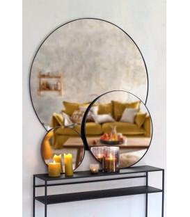 Miroir mural métal LOOP Noir Diam 116cm - Red Cartel