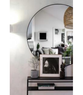 Miroir mural métal LOOP Noir Diam 70cm - Red Cartel