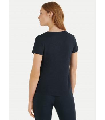 T-Shirt ML col V - Navy