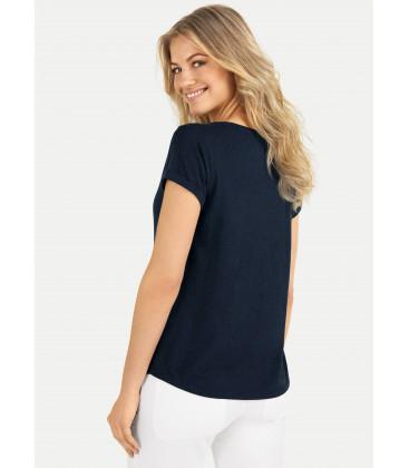 T-Shirt ML col rond - Navy