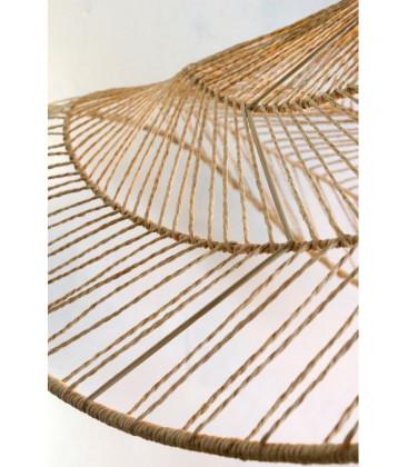 Abat-jour TAMAN en fibre tressées Naturel - Diam 110 - Red Cartel