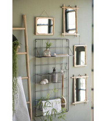 Miroir rectangulaire bambou - 35,5 x 22 cm - IB Laursen